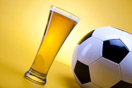 Football beer photo