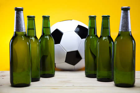 sapid: Football beer Stock Photo