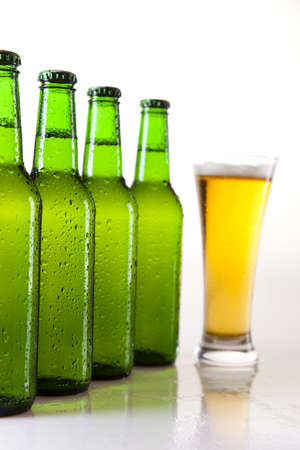Beer collection, glass in studio Stock Photo - 8318065