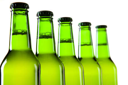 taphouse: Bottles of beer against a white background