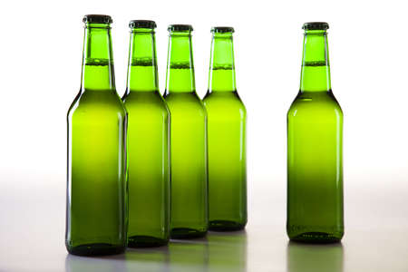 Green bottle of beer Stock Photo - 8315937
