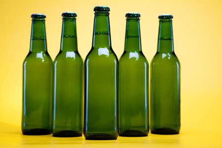 sapid: Green bottle of beer  Stock Photo