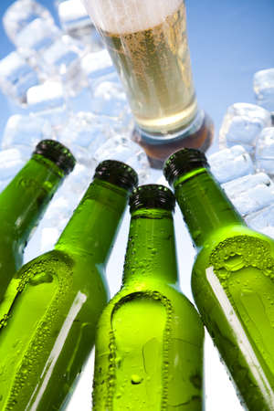 taphouse: Three fresh beer with ice