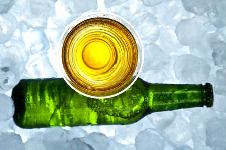 Beer is in ice Stock Photo - 8314744