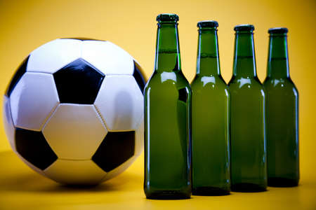 adjuvant: Football beer Stock Photo