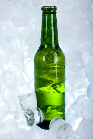 taphouse: Three fresh beer with ice  Stock Photo