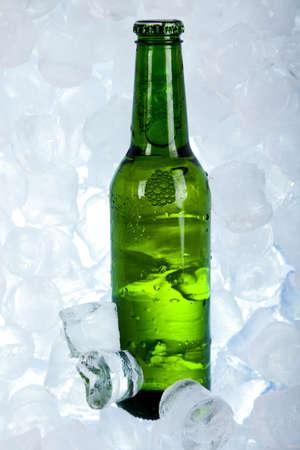 sapid: Three fresh beer with ice  Stock Photo