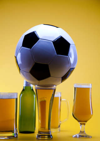 taphouse: Football beer Stock Photo
