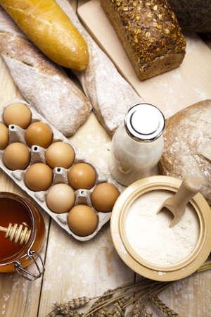 crop harvesting: Assortment of baked bread
