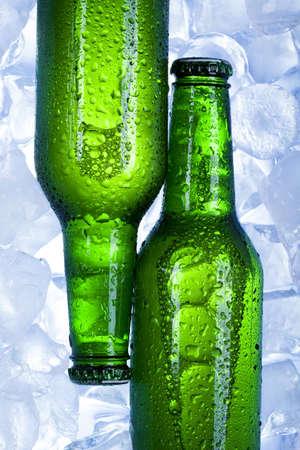 luxuriate: Cold beer bottle