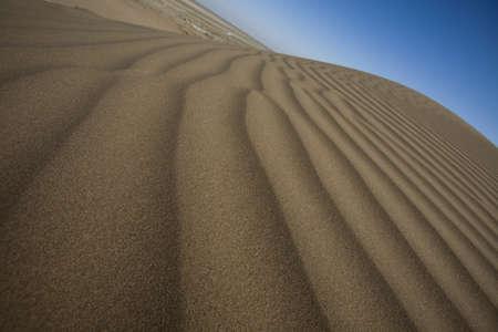 Desert dunes in iran photo