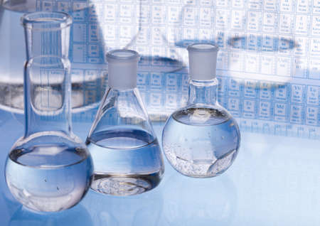 Chemical formula with Laboratory glass Stock Photo - 8252493
