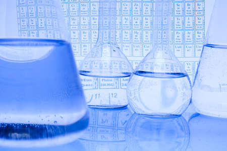 Chemical formula with Laboratory glass Stock Photo - 8252567