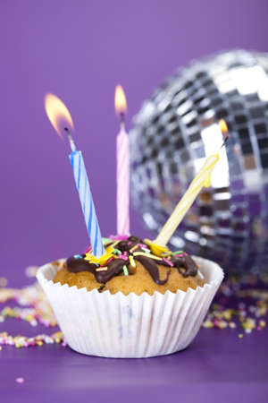 Birthday cupcake Stock Photo - 8252952
