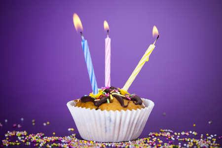 Birthday cupcake Stock Photo - 8252954