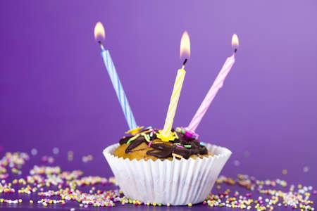 Birthday cupcake Stock Photo - 8253017