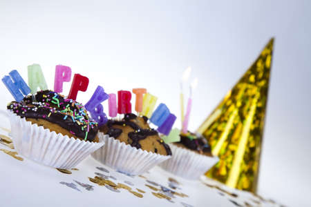 Happy birthday background  Stock Photo - 8252765