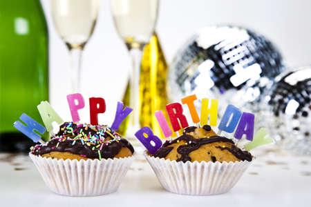 Cupcake birthday surpris Stock Photo - 8252972