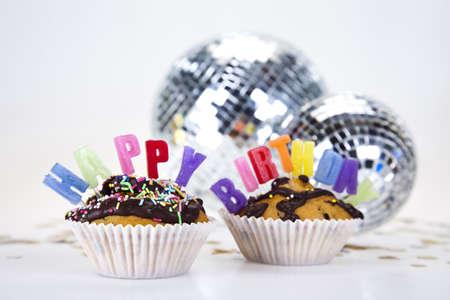 Birthday cupcake Stock Photo - 8252772
