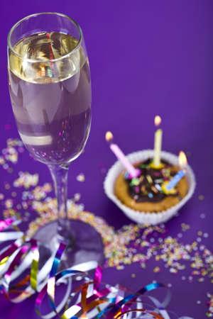 Birthday cupcake Stock Photo - 8253041