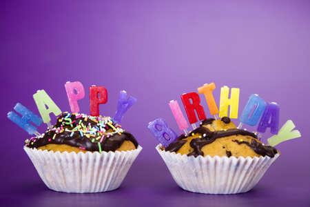 Cupcake birthday surpris Stock Photo - 8253064