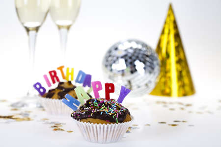 Happy birthday background  Stock Photo - 8252697
