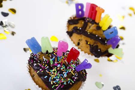 Happy birthday background  Stock Photo - 8252852