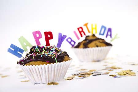Cupcake birthday surpris Stock Photo - 8252667