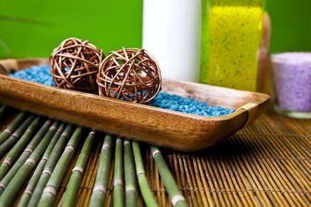 aroma bowl: Green spa Stock Photo