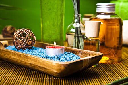 wooden aromatherapy: Spa and zen Stock Photo