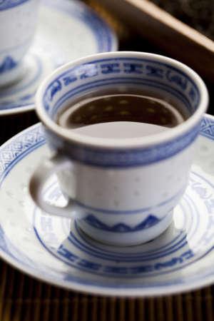 Green tea cup photo