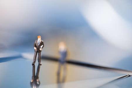 Miniature businessman Stock Photo - 8563720