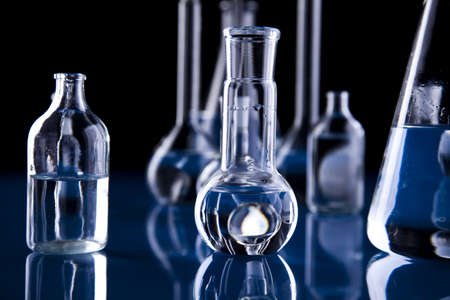 Glass in laboratory      Stock Photo - 8564409
