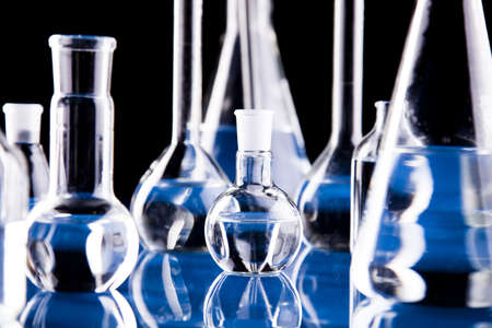 chemistry science: Glass in laboratory