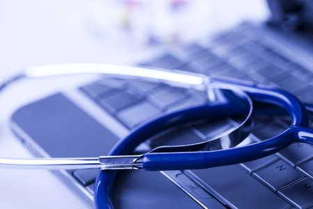 Medicines collection and Stethoscope Stock Photo - 8564455
