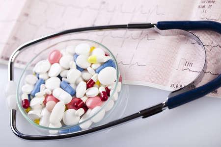 Drugs and  Stethoscope Stock Photo - 8564603