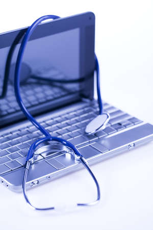 Computer and  Stethoscope photo