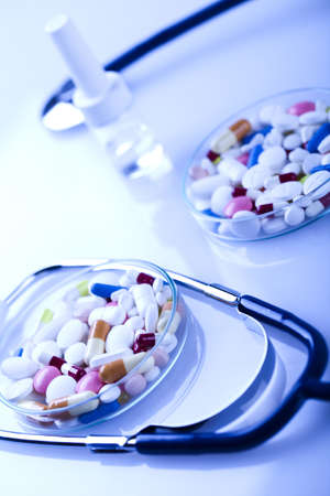 Tablets & Medicines and Stethoscope Stock Photo - 8564349