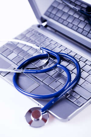 Computer and  Stethoscope Stock Photo - 8564892