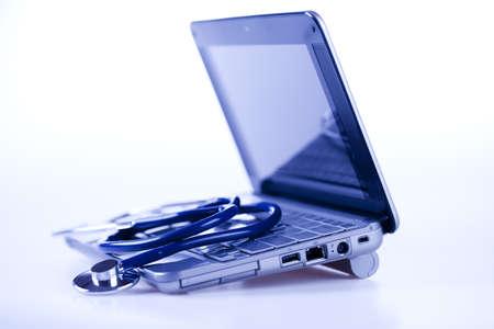 Technology and Stethoscope Stock Photo - 8563832