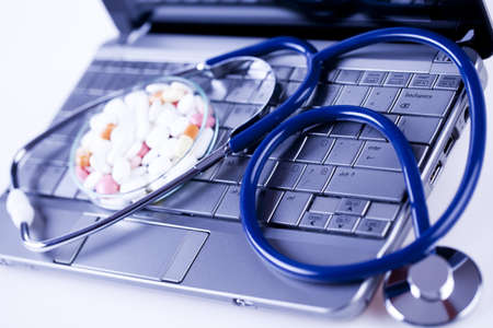 Computer and  Stethoscope Stock Photo - 8564894