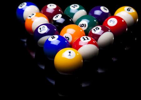 Billiard balls isolate on black Stock Photo - 8780368