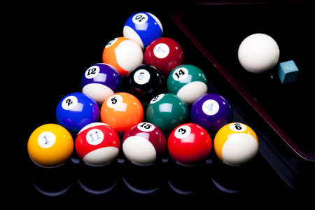 number eleven: Billiard balls isolate on black