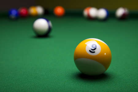 pool ball: Close up shot of pool ball