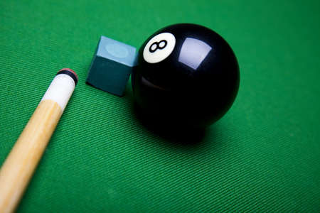 Billiard ball close up photo