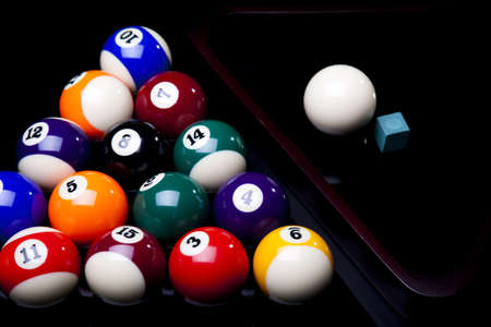 cue ball: Billiard background