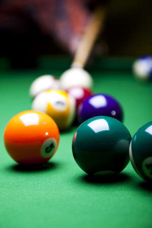 game of pool: Close-up billiard ball