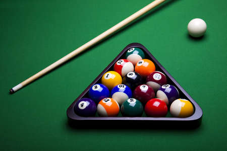 pool fun: Close-up billiard ball