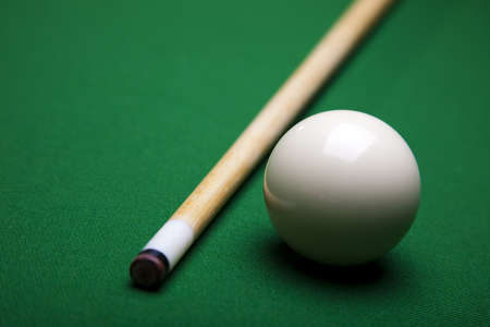 9 ball: Snooker player Stock Photo