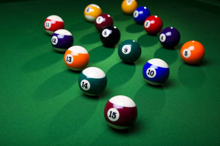 game of pool: Billiard balls, pool